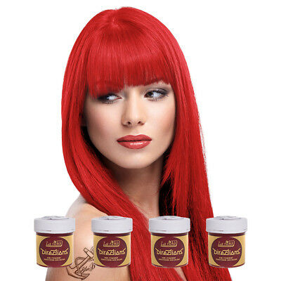 La Riche Directions Coral Red Semi-Permanent Colour Hair Dye Kit 4 Pack 88ml