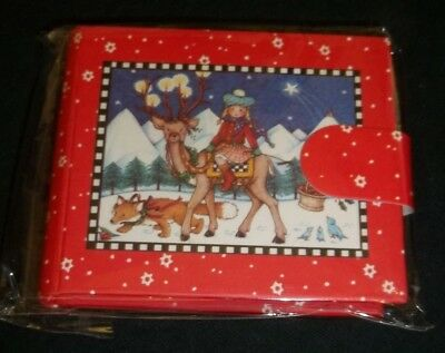 Adorable Mary Engelbreit mini Holiday photo picture album NIP