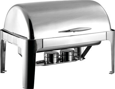 Chafer Full Size HEAVYWEIGHT roll top Chafing dish set 8 qt. Stainless Steel