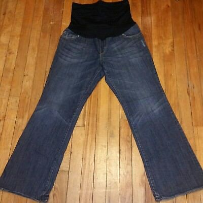 74800f2b1f1f1 Women's Liz Lange Maternity Boot Cut Jeans Size 8 medium wash 30