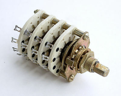 Centralab 3 position 4 pole ceramic rotary switch