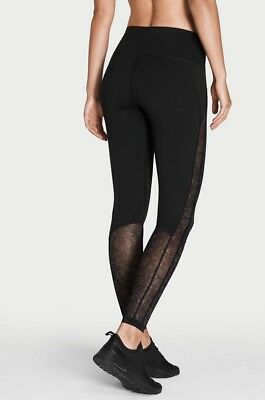 b5143727fbd8c VICTORIA SPORT Knockout by Victorias Secret Tight Black/Mesh Sm Regular New!