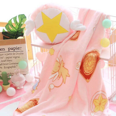 Anime Card Captor Sakura Cute Plush Pillow  Air Conditioning Blanket Throw 2in1