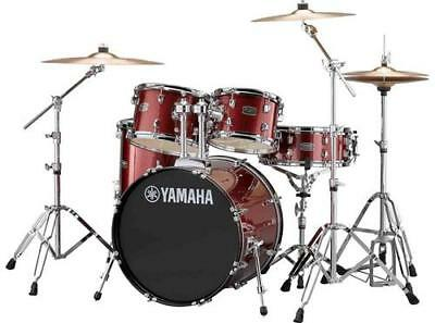 "Yamaha Rydeen 5-Piece Shell Kit - 20"" Bass Drum - Burgundy Glitter"