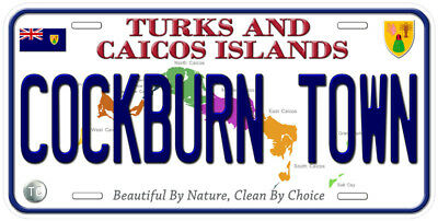 Turks and Caicos Island Any Text Personalized Novelty Aluminum Car License Plate
