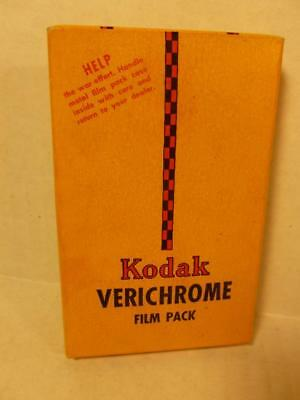 Vintage April 1945 Kodak Verichrome Film Pack V520 Factory Sealed P180