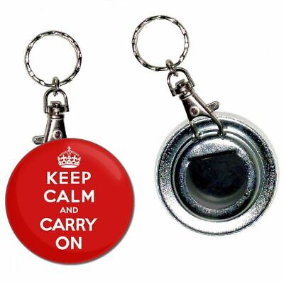 """/""""Keep Calm and Carry on Drinking/"""" Keyring Bottle Opener"""