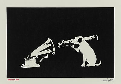 Banksy - HMV Dog - 50 x 65 cm. Arches Paper - Printed Signature