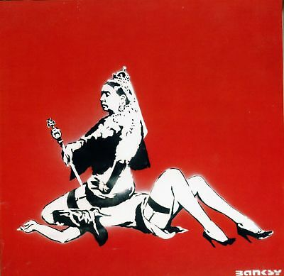 Banksy - Queen Victoria  - 50 x 65 cm. Arches Paper - Printed Signature