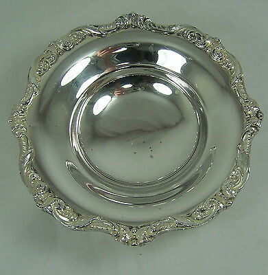 POOLE 5005 Footed Silver Plate CANDY NUT DIP SIDE Dish Plate Bowl NICE QUALITY!!