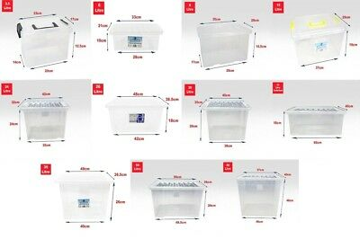UK British Plastic Storage Boxes With Lids For Office Home Stackable Clear Boxes