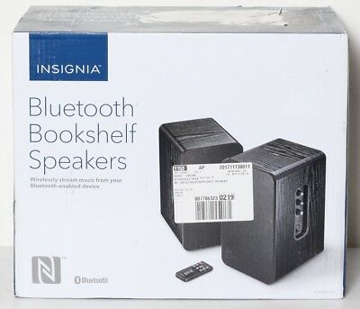 Insignia NS HBTSS116 Powered Bluetooth Bookshelf Speakers Pair