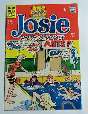 Josie And The Pussycats #45 Archie Series 1969 1St App. Pussycats