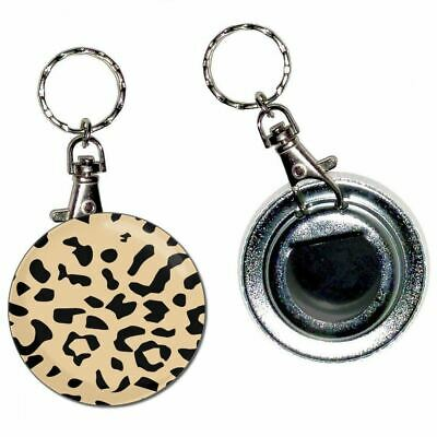 Leopard Print - 55mm Button Badge Bottle Opener Key Ring New