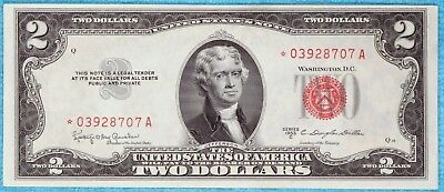 1953-C $2 Star Fr#1512* Two Dollar Bill Red Seal US Note Lot #1