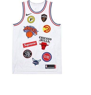26ddcd5e1bfb SUPREME NIKE NBA Teams Warm-Up Jacket SS18 White XL IN HAND Jeff ...
