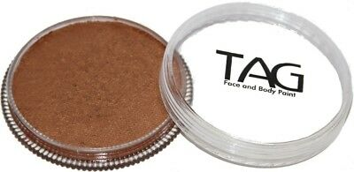 32g TAG Professional Face Paint Pearl Colour ~ Pearl Old Gold. Delivery is Free