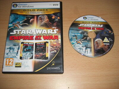 STAR WARS EMPIRE AT WAR GOLD PACK Inc Forces Of Corruption AddOn Expansion Pc nm
