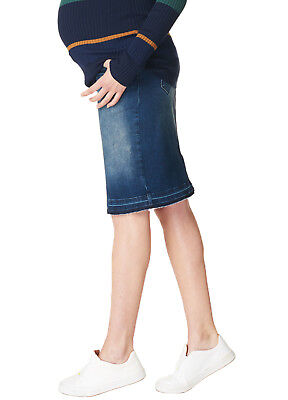 NEW - Noppies - Joy Midi Denim Maternity Pregnancy Skirt