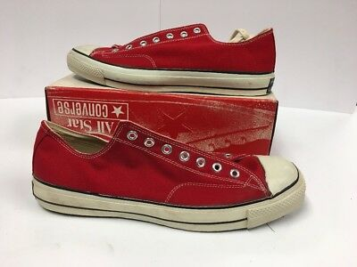 Vintage 70's Converse Chuck Taylor All Star Sz 13 Red NEW! ORIGINAL! Black Label