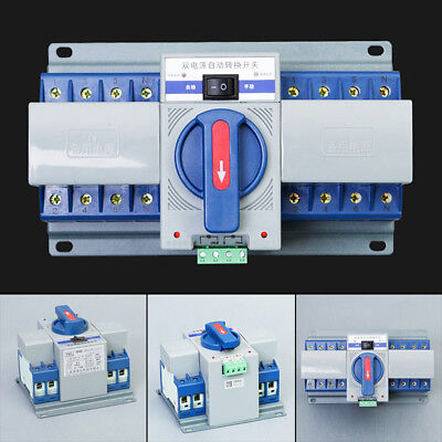 220V 2P 63A Dual Power Automatic Transfer Switch ATS Circuit Breakers 50HZ/60HZ