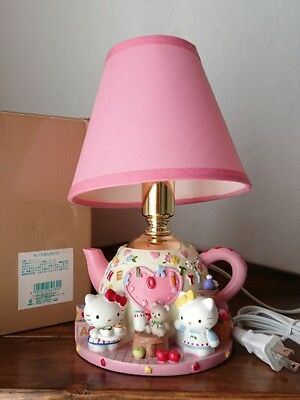 Hello Kitty Teapot Type Lamp Kitty and Mimmy Tea Ceremony Diorama Hand-Painted