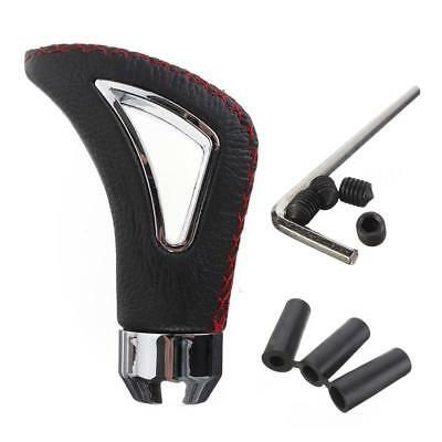 Leather Universal Automatic Auto Car Gear Stick Shift Knob Shifter Lever Cover