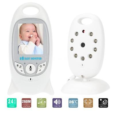 VB601 Intercome Baby Monitor 2.0inches 2.4GHz Wireless 8 Lullabies VOX Mode J4P8