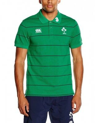 (Small, Green) - Canterbury Men's Ireland Stripe Polo T-Shirt. Delivery is Free