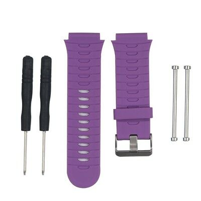 (Purple) - HWHMH Soft Adjustable Silicone Replacement Wrist Watch Band for
