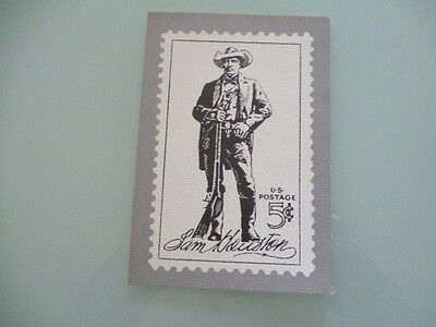 UNITED STATES 1964 stamp reproduction card 5 cent Sam Houuston 1793- 1863