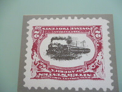 UNITED STATES  stamp reproduction card 2 cent East Express stamp