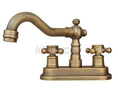 """Antique Brass 4"""" Centerset Bathroom Two Holes Basin Faucet Sink Tap Knf325"""