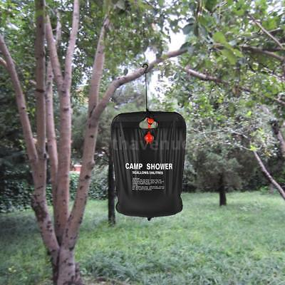 20L / 5 Gallons Solar Energy Heated Camp Shower Bag Outdoor Camping Hiking R0C1