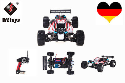 WLtoys A959 1/18 Maßstab 1:18 2.4G 4WD RTR Off-Road Buggy RC Auto Rot CO J6N0