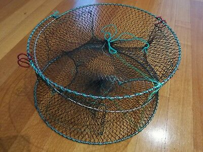 2xeel trap $30 Crab Crayfish Lobster Catcher Pot  45*22 NetPrawnShrimp LiveBait