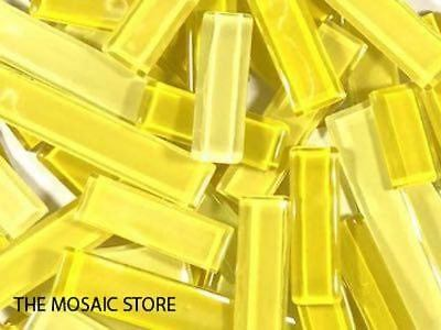 Yellow Mixed Glass Rectangles | Mosaic Art Craft Supplies