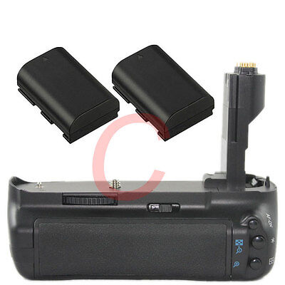 New Battery Grip for Canon EOS 7D as replacement BG-E7 + 2 LP-E6 Battery