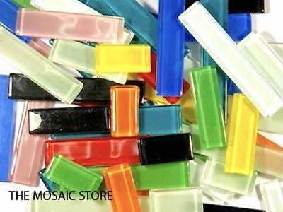 Multi-Coloured Mixed Glass Rectangles | Mosaic Tiles Art Craft Supplies