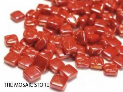 Iridised Red 8mm Glass Tiles | Mosaic Tiles Supplies Art Craft