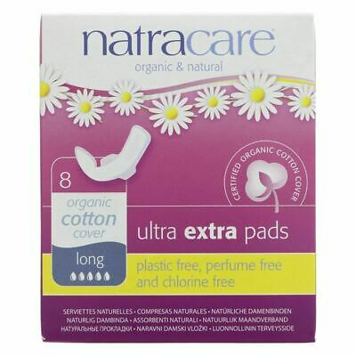 NATRACARE | Ultra Extra Pads Long - Wings | 8 x 8