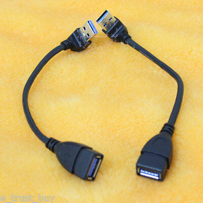 2pcs Down + UP angle angled 90 degree USB 3.0 A extension pc cable cord 15cm