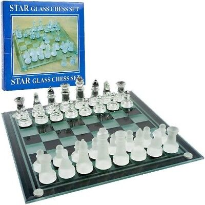 Elegant Glass Chess and Checker Board Set. USA. Delivery is Free