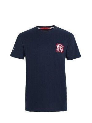 (Large, Z73 Navy) - Front Up Rugby Men's Pain is Temporary T-Shirt