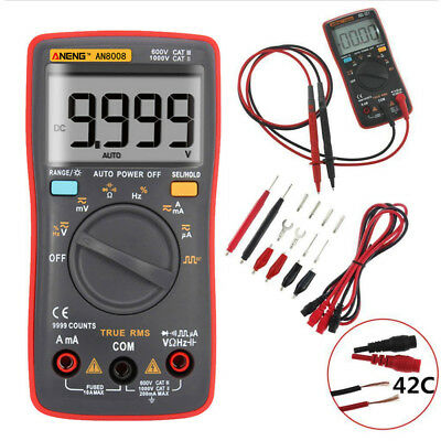 Ato-Ranging Digital Multimeter Voltmeter Ammeter Ohmmeter AN8008 AC DC Tester