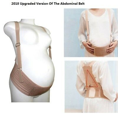 Pregnancy Breathable Maternity Special Support Belt Belly Bump Band Strap Khaki