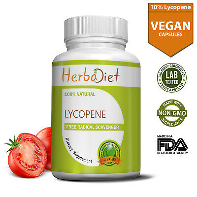 Lycopene 50mg Prostate Support PURE Tomato Extract Complex Vegetarian Capsules