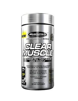 Muscletech Clear Muscle 168 Capsules 1000Mg - Builds Lean Muscle