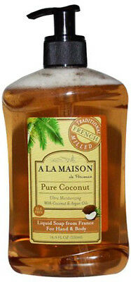 French Liquid Soap, A La Maison, 16.9 oz Pure Coconut
