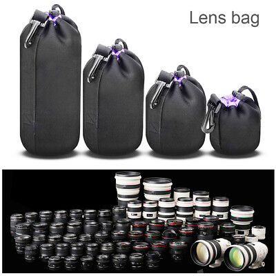 Thick Protective Waterproof DSLR Camera Lens Pouch Bag Travel Case Soft Cover